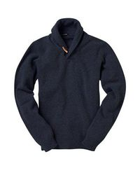 French Connection | Blue Lambswool Wrap Pullover for Men | Lyst