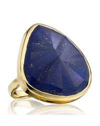 Monica Vinader | Metallic Goldplated Vermeil Lapis Lazuli Siren Cocktail Ring | Lyst