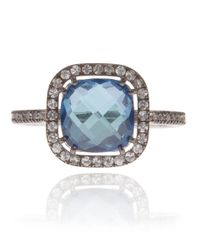 Suzanne Kalan - White Gold London Blue Topaz Ring - Lyst