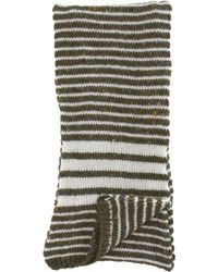Thom Browne - Gray Hand Knit Skinny Scarf for Men - Lyst