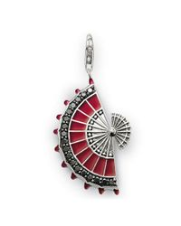 Thomas Sabo | Rebel At Heart Red Fan Pendant | Lyst