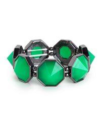 BaubleBar - Green Emerald Octa Bangle - Lyst