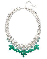 BaubleBar | Metallic Mint Laurel Curb Collar | Lyst