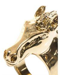 Chloé | Yellow Horse Head Ring | Lyst