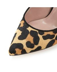 Dune | Multicolor Maybell Leopard Pony Heeled Sandals | Lyst