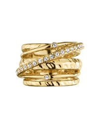 Dyrberg/Kern - Metallic Wendolyn Shiny Gold Ring - Lyst