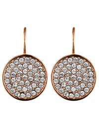 Dyrberg/Kern - Pink Desria Rose Gold Crystal Earrings - Lyst