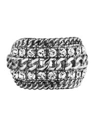 Dyrberg/Kern - Metallic Ermina Shiny Silver Crystal Ring - Lyst
