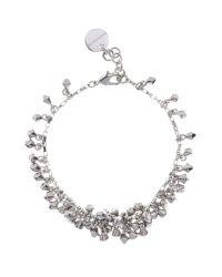 Karen Millen | Metallic Crystal Droplet Bracelet | Lyst