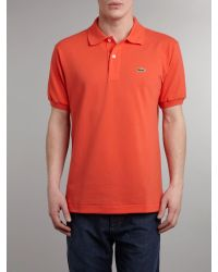 Lacoste | Orange Classic Polo Shirt for Men | Lyst