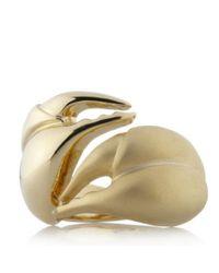 Libertine | Metallic Yellow Gold Swarovski Crystal Scorpion Ring | Lyst