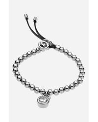 MICHAEL Michael Kors | Metallic Michael Kors Beaded Stretch Bracelet | Lyst
