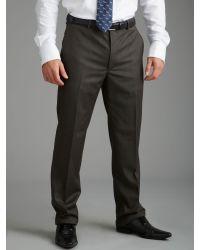 Paul Costelloe - Brown Navy Sharkskin Trouser for Men - Lyst