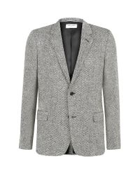Saint Laurent | Gray Salt and Pepper Tweed Jacket for Men | Lyst