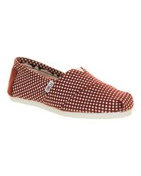 TOMS - Purple Classic Slip On Espadrille Shoes for Men - Lyst
