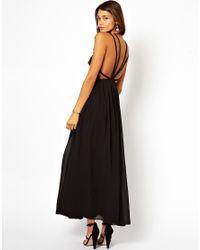 ASOS | Black Premium Maxi Dress with Cami Back | Lyst
