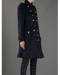 Burberry | Blue Littleton Coat | Lyst