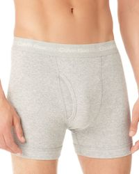 Calvin Klein - Gray Knit Boxer Briefs, 3 Pack for Men - Lyst