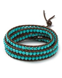 Chan Luu - Blue Brown Turquoise Five Wrap Bracelet - Lyst
