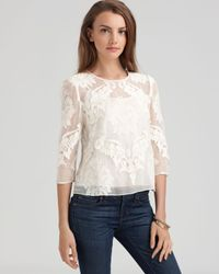 Dolce Vita - White Top Deidra Victorian Embroidery - Lyst