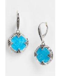 Judith Jack | Blue Coin Drop Earrings | Lyst