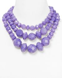 kate spade new york | Purple Give It A Swirl Statement Necklace 18 | Lyst