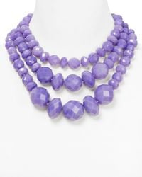 Kate Spade | Purple Give It A Swirl Statement Necklace 18 | Lyst