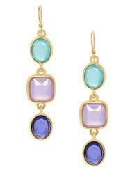 kate spade new york   Multicolor Goldplated Stone Drop Earrings   Lyst