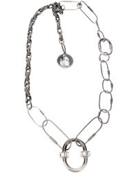 Lanvin - Metallic Chain Link Necklace - Lyst