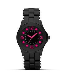 Marc By Marc Jacobs | Pelly Black and Pink Silicon Watch 365mm | Lyst