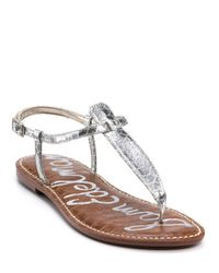 Sam Edelman Metallic Gigi Flat Sandals