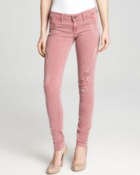 Sold Design Lab - Pink Sold Design Lab Jeans Distressed Skinny  - Lyst
