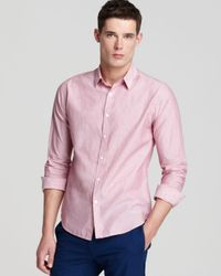 Theory | Pink Zack Ps Niland Sport Shirt Slim Fit for Men | Lyst