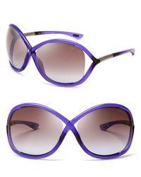 Tom Ford - Purple Whitney Sunglasses - Lyst