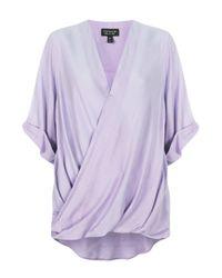 TOPSHOP - Purple Casual Drape Top - Lyst
