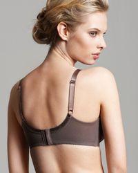 Wacoal | Brown Bra - Retro Chic Full Figure Unlined Underwire # 855186 | Lyst