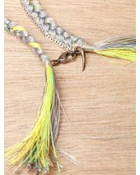Alyssa Norton - Yellow Sterling Silver and Braided Silk Bracelet - Lyst