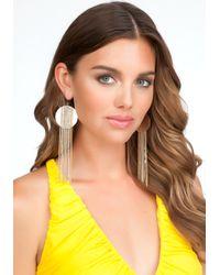 Bebe - Brown Disc Chain Earrings - Lyst