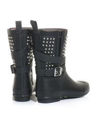 Burberry Prorsum - Black Holloway Studded Wellington Boots - Lyst