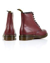 Dr. Martens - Red Dr Martens Broken in 8-eye Boots for Men - Lyst