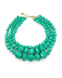 kate spade new york | Green Give It A Swirl Faceted Multi-strand Necklace | Lyst