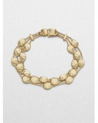 Marco Bicego | Metallic 18k Yellow Gold Multirow Station Bracelet | Lyst