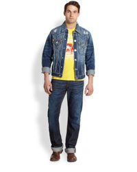 True Religion - Blue Jimmy Super T Denim Jacket for Men - Lyst