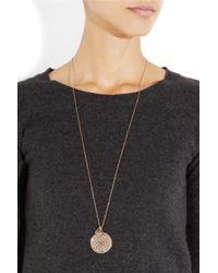 Monica Vinader - Pink Marie 18karat Rose Gold Vermeil Labradorite Necklace - Lyst