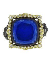 Armenta - Blue Lapis Halo Ring - Lyst