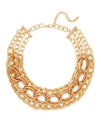 BaubleBar | Metallic Triple Gold Chunky Chain Collar | Lyst