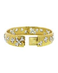 Cathy Waterman | Yellow Bees Chasing Flowers Bangle | Lyst