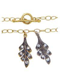 Cathy Waterman - Metallic Double Oak Leaf Bracelet - Lyst