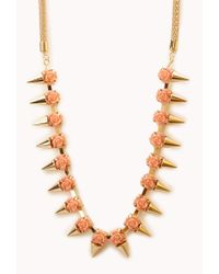 Forever 21 | Blue Faux Geode Layered Necklace | Lyst