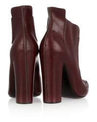 Alexander Wang - Purple Leather Ankle Boots - Lyst
